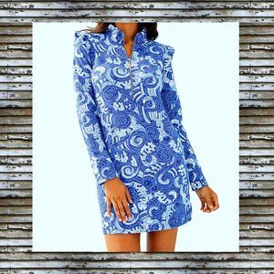 New LILLY PULITZER Grotto Blue Short Dress